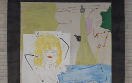 Rose Wylie 'Billie Piper (A Combo Painting)' 2014